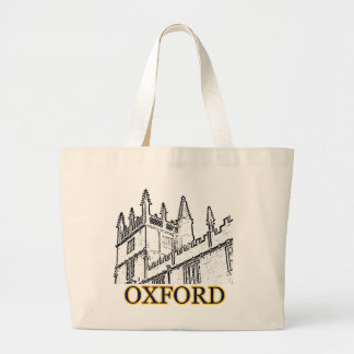 Oxford England 1986 Building Spirals White Large Tote Bag