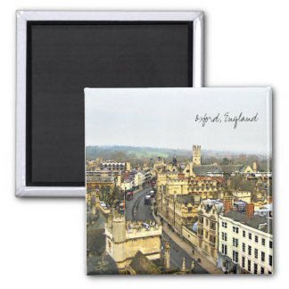Oxford, England, High St View Square Magnet