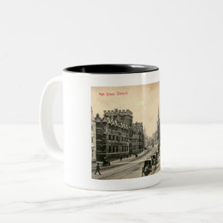 Oxford, England, UK, High Street 1905 Two-Tone Coffee Mug