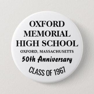 OXFORD HIGH 1967 3 INCH ROUND BUTTON
