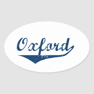 Oxford Oval Sticker