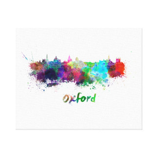 Oxford skyline in watercolor canvas print