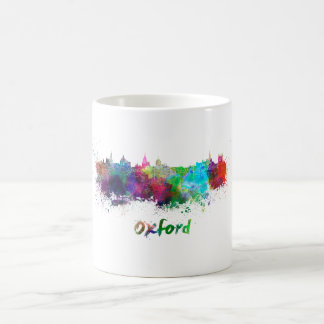 Oxford skyline in watercolor coffee mug
