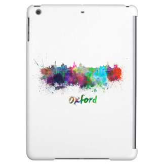 Oxford skyline in watercolor iPad air covers