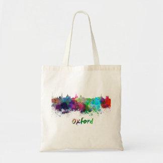Oxford skyline in watercolor tote bag