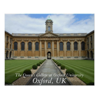 Oxford, UK – The Queen's College Poster