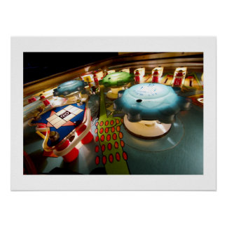 OXO bumpers pinball poster