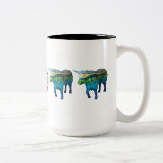 """Oxtentatious"" Two-Tone Coffee Mug"