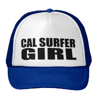 Oxygentees  Cal Surfer Girl Trucker Hat