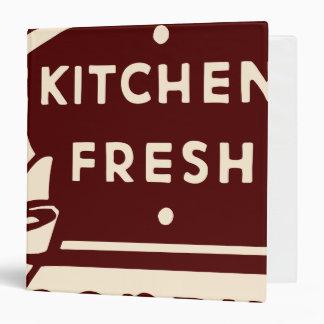 Oxygentees Kitchen Fresh 3 Ring Binders