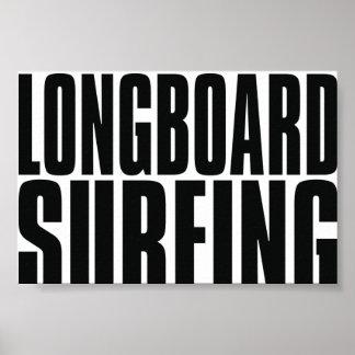Oxygentees Longboard Surfing Poster