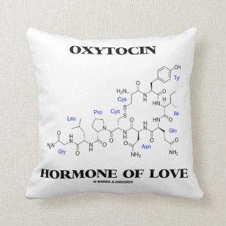 Oxytocin Hormone Of Love (Chemical Molecule) Throw Pillow