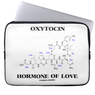 Oxytocin Hormone Of Love (Chemistry) Laptop Sleeve