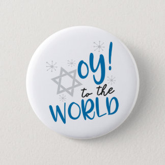 Oy to the World 2 Inch Round Button