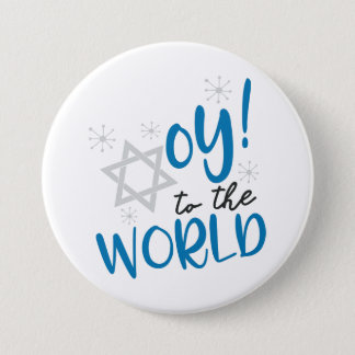 Oy to the World 3 Inch Round Button