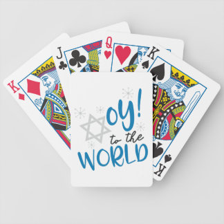 Oy to the World Bicycle Playing Cards
