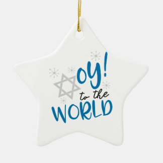 Oy to the World Ceramic Ornament