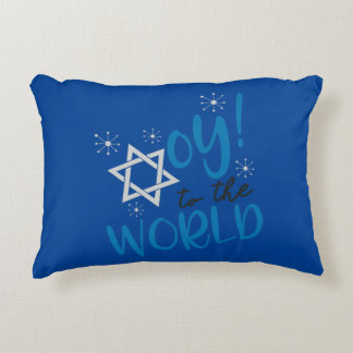 Oy to the World Decorative Pillow