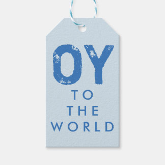 Oy to the World Hanukkah Gift Tags Pack Of Gift Tags