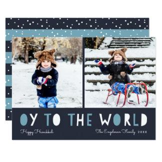 Oy to the World | Hanukkah Photo Card