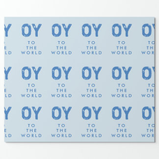 Oy to the World Hanukkah Wrapping Paper