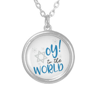 Oy to the World Silver Plated Necklace