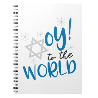 Oy to the World Spiral Notebook