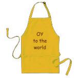 OY  to the world  Yiddish Jewish apron
