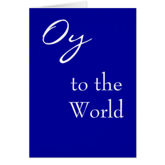 Oy to World Hannukah Card