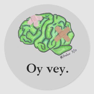 """Oy vey."" stickers"
