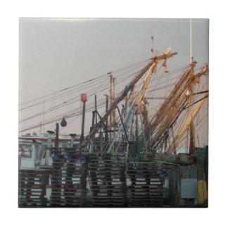 Oyster Boats Tile