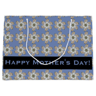 Oyster Flower Gift Bag - Design A Light Blue