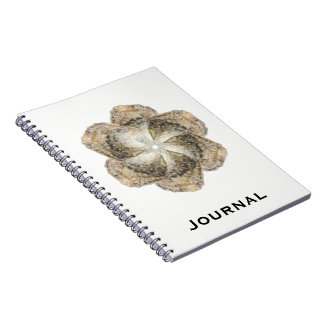Oyster Flower Notebook - Design B White