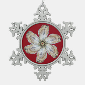 Oyster Flower Snowflake Ornament - Design A