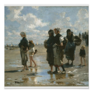 Oyster Gatherers at Cancale, John Singer Sargent Print