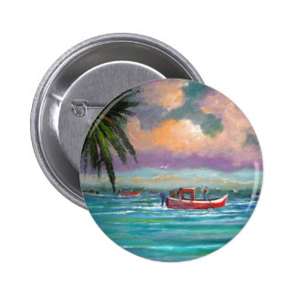 Oyster harvesting in Apalachicola Bay 2 Inch Round Button