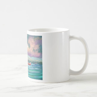 Oyster harvesting in Apalachicola Bay Coffee Mug