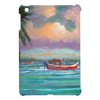 Oyster harvesting in Apalachicola Bay iPad Mini Covers