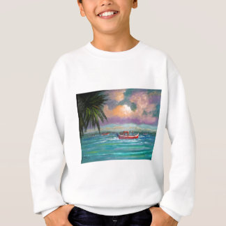 Oyster harvesting in Apalachicola Bay Sweatshirt