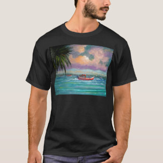 Oyster harvesting in Apalachicola Bay T-Shirt
