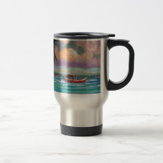 Oyster harvesting in Apalachicola Bay Travel Mug