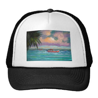 Oyster harvesting in Apalachicola Bay Trucker Hat