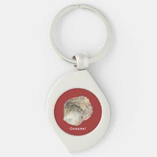 Oyster Keychain - Design B Red