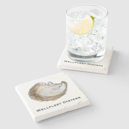 Oyster Marble Coaster - Design C Stone Beverage Coaster