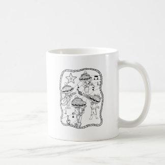 Oyster Mariachi Band Line Art Design Coffee Mug