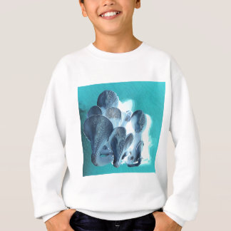 Oyster Mushrooms in Blue Sweatshirt