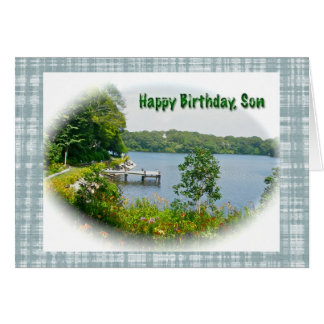 Oyster Pond Scene Son Birthday Card