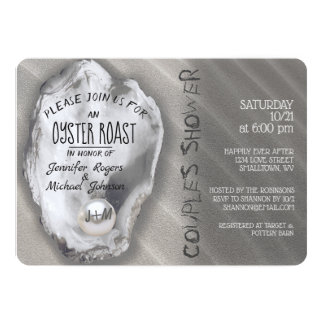 Oyster Roast Couples Shower Card