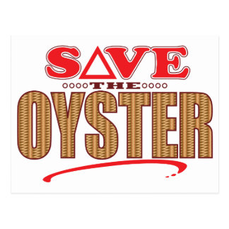 Oyster Save Postcard