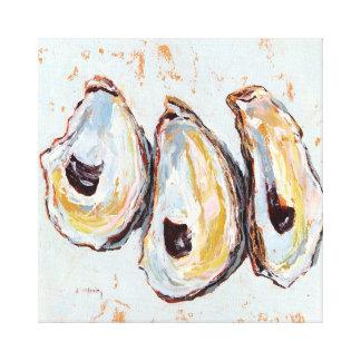 Oyster shells canvas print